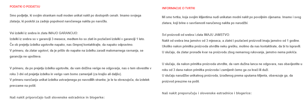 Translate English or Croatian to Slovenian and vice versa up to 800 words