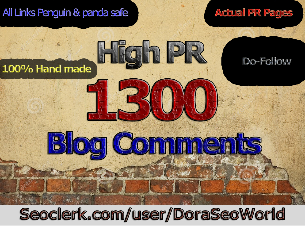 Create 1300 High Authority PR2-7 Dofollow Blog comments backlinks