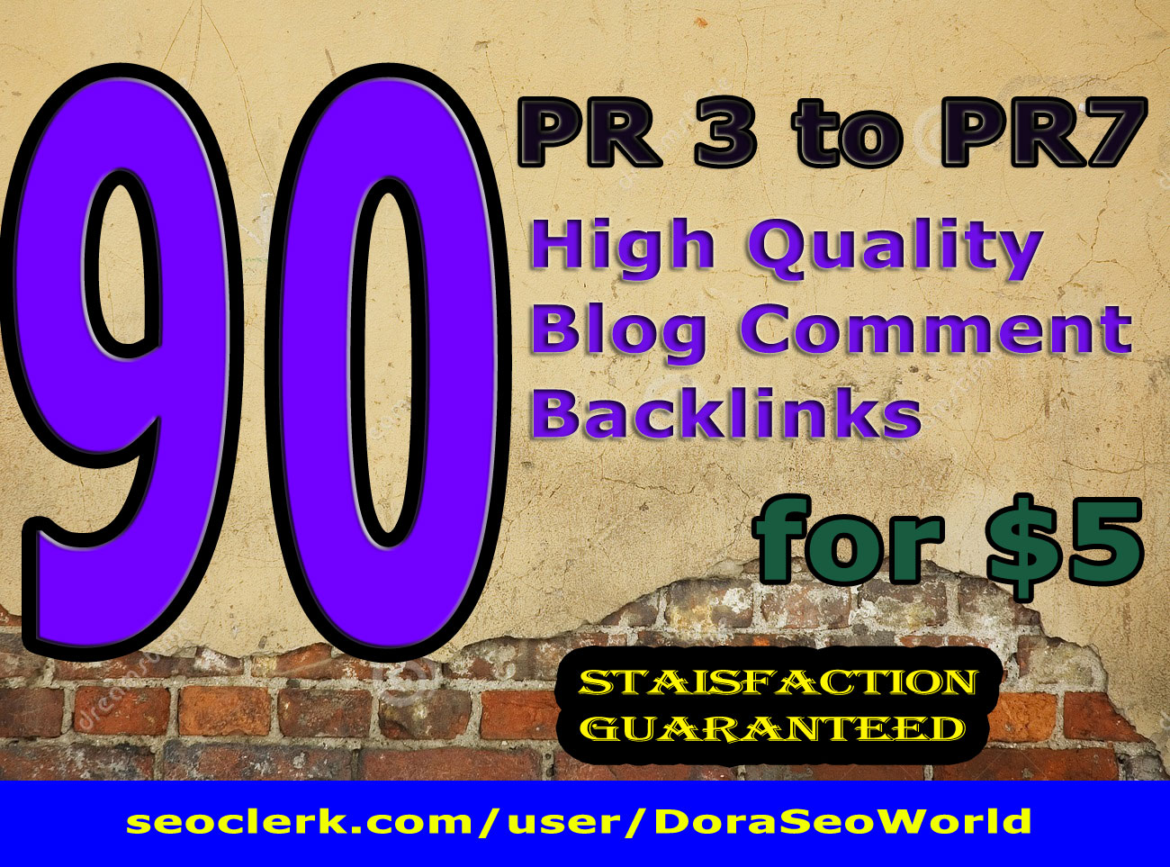 manually create 90 High DA PA Blog comments backlinks