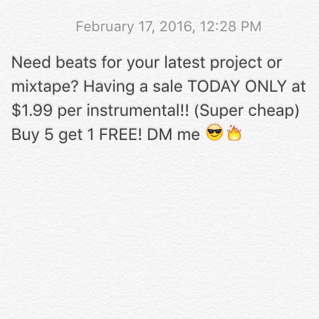 Buy hot beats for a (very) low price!
