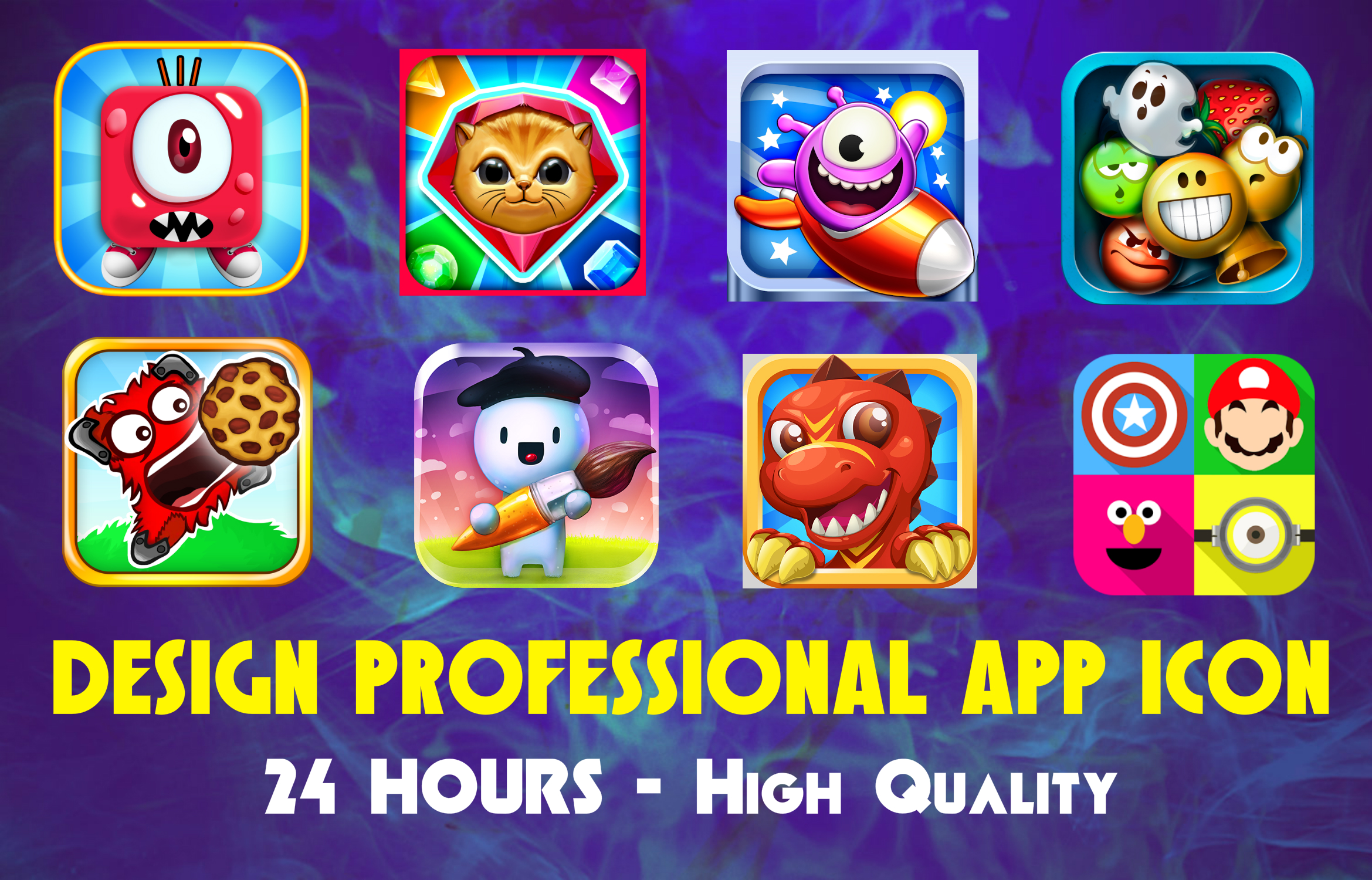 I will design Professional app icon in 24hour