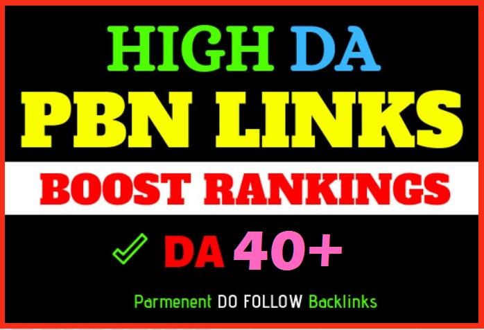 10 Manual DA40+ PA70+ CF40+ TF25+ DR35+ UR40+ Dofollow PBN Backlinks