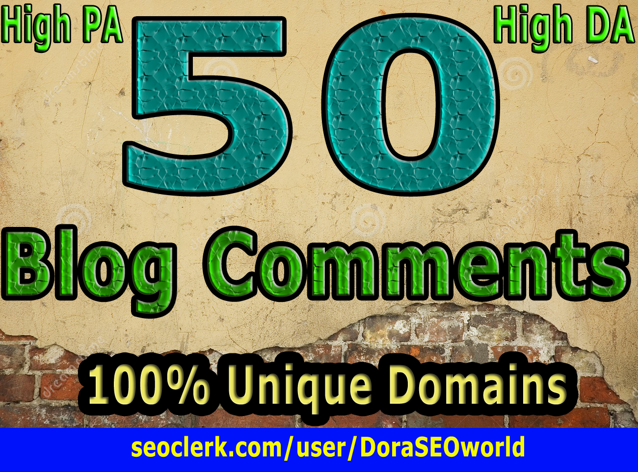 Get 50 High DA PA Dofollow Blog comment Backlinks