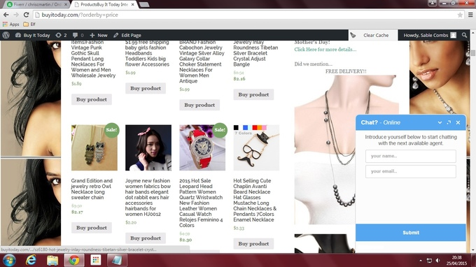 I will give you live chat on your website