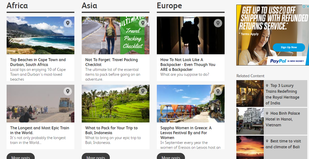 2 Guest Posts on TRAVEL Niche DA56 - PA54 White Hat SEO Link Building