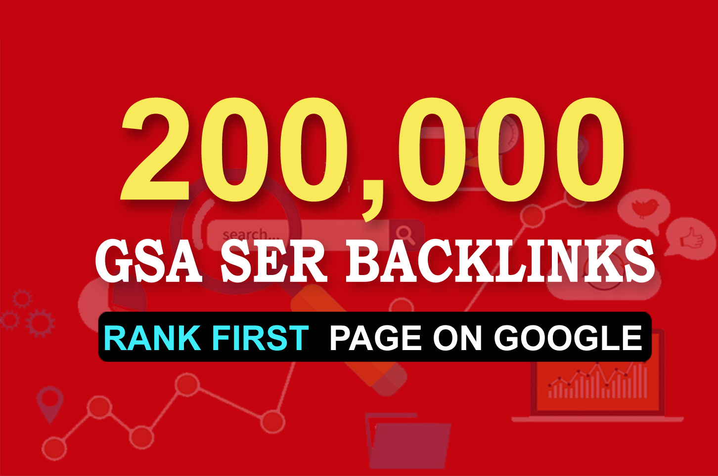 Get 1st page on Google by 200,000 GSA Ser Backlinks