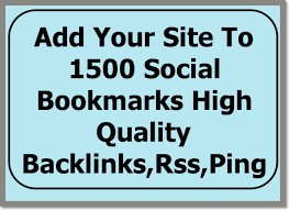 I will ping your site to 1,500 premium social bookmarking and pinging sites with backlinks
