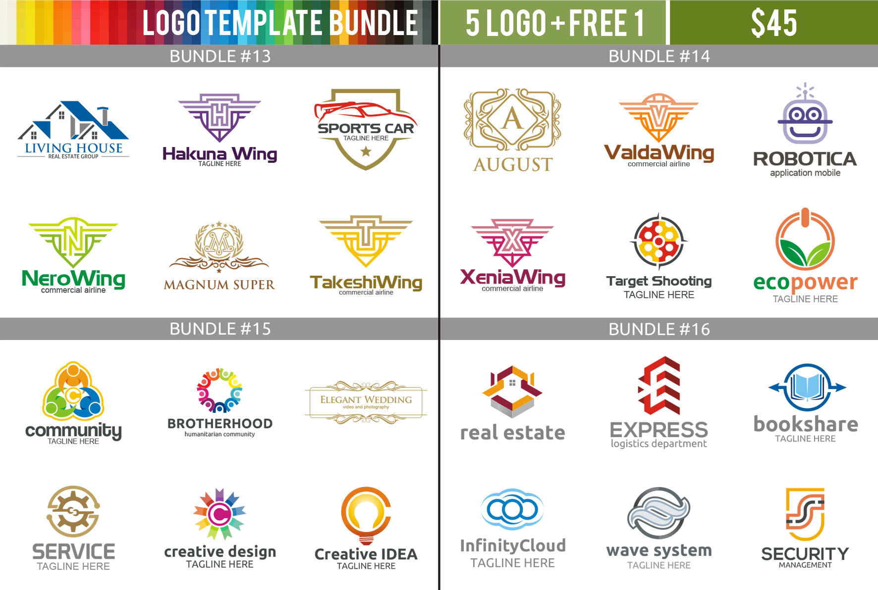 Wide Choice of Logo Templates