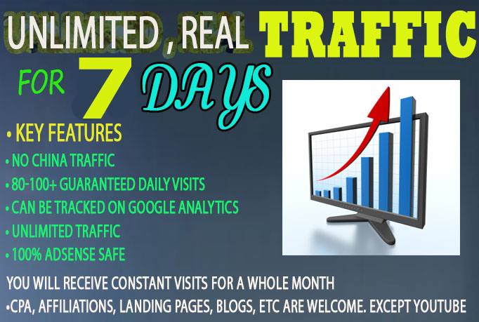 I will drive keyword targeted Website TRAFFIC to your website for 7 days