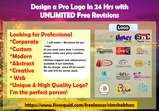 design innovative logo for your website