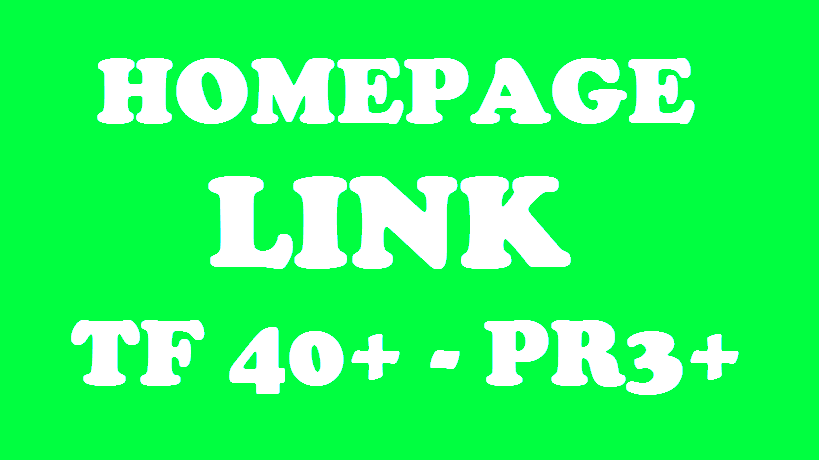 HOMEPAGE BACKLINK - TRUST FLOW 40+ & PR3+