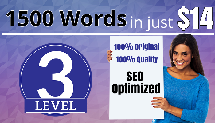 Get Up to 1500 Words SEO Optimized Article