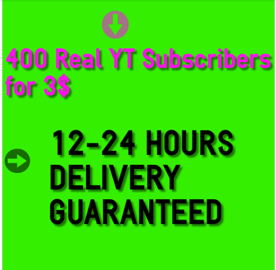 Get 400++ Real and Active Y-T  Sub-crib*ers in 1 day