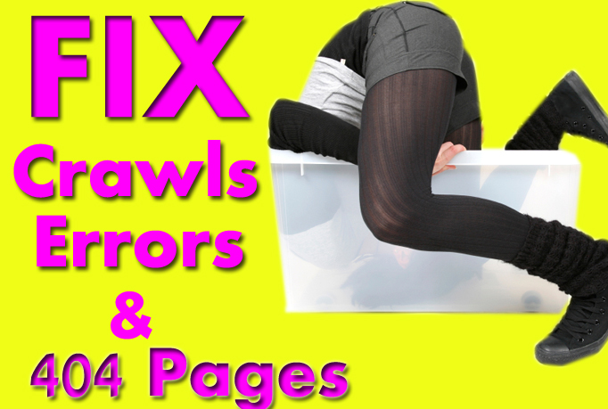 I will fix crawls errors or 404 pages of your website