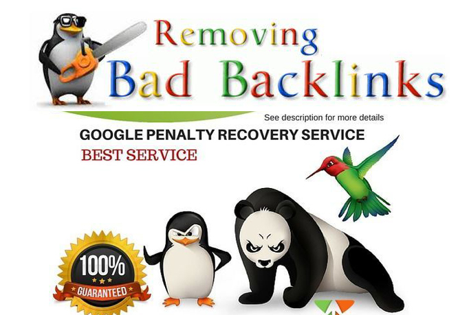 I will evaluation and remove bad backlinks to recover google penalty