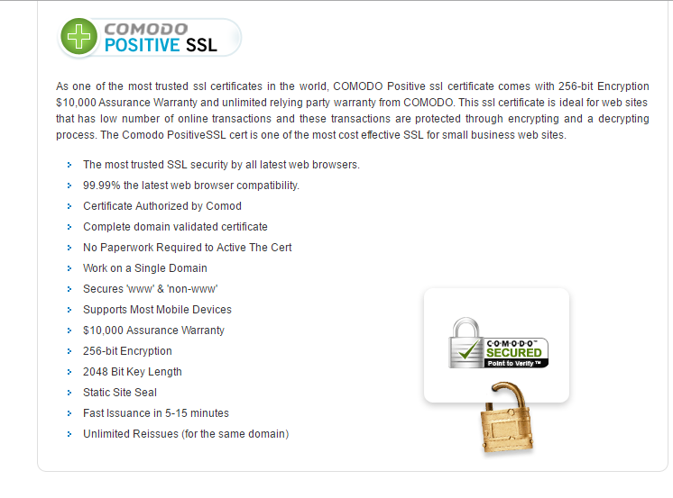 Https Protect Your Site Comodo Positivessl Certificate Install
