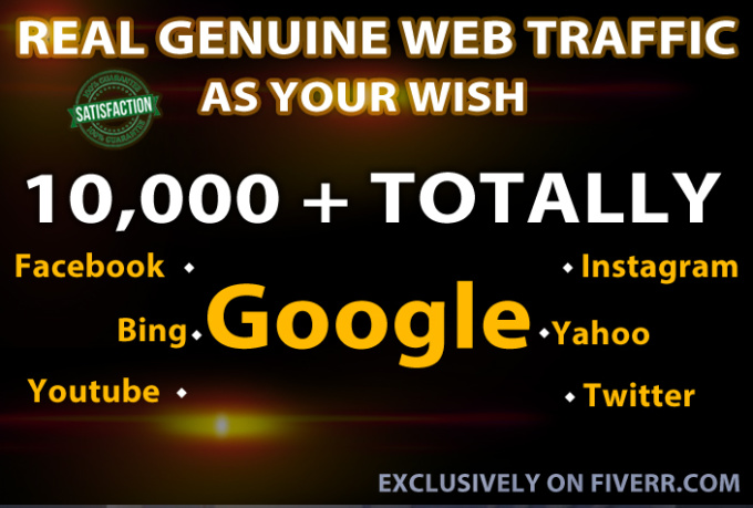 I will drive UNLIMITED genuine real website traffic f...