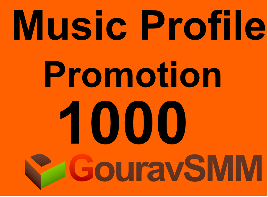 1000 profile promotion or Favorites or Reposts on Music Profile
