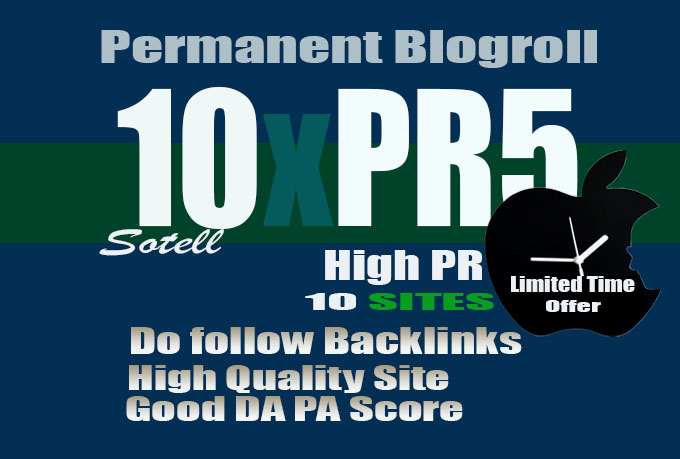 I will give link PR5x10 site blogroll permanent