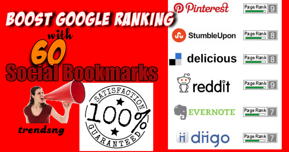 I will social BOOKMARK your multiple URLs in 10 hours to 60 social bookmark site