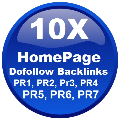 10X Homepage Dofollow Backlink and Get Top in Google and Alexa Ranking Linksite