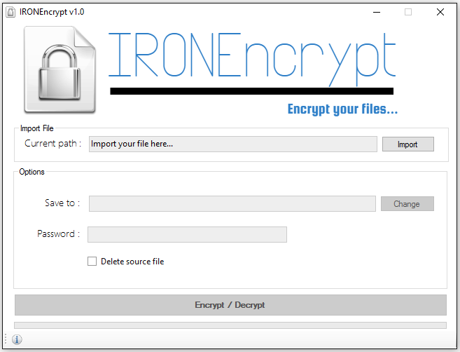 IRONEncrypt - Encrypt/Decrypt Your Files