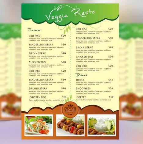I will design food MENU Brochures or flyers