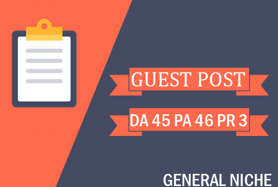 I will do Guest Post on General Blog DA 40
