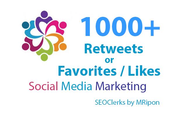 200 High Quality Re-Tweets or Favorites