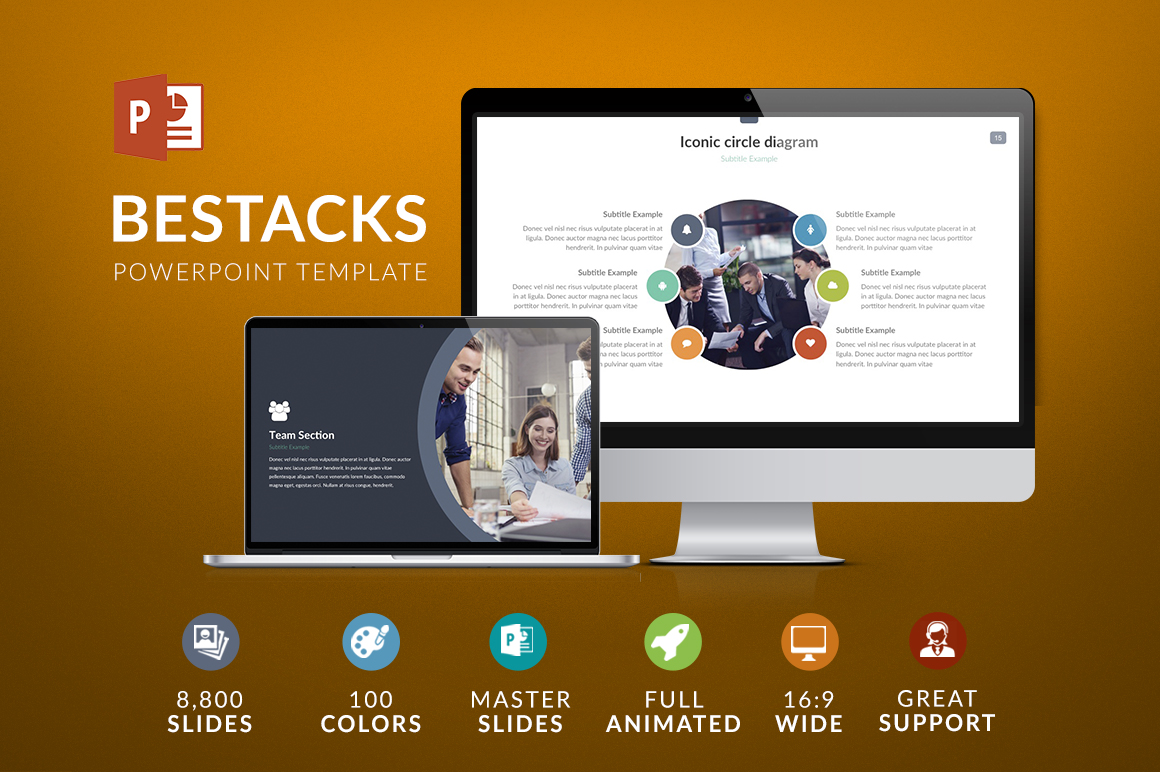 Will deliver more than 100 Powerpoimt & Keynote Templates
