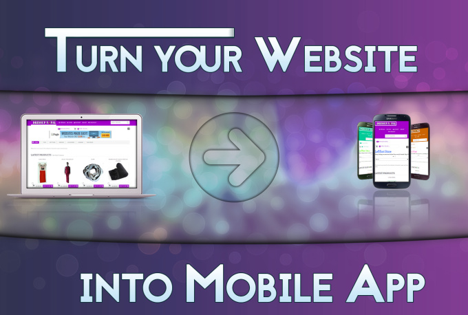 I will convert your website into android application