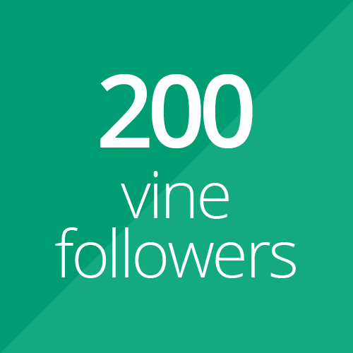 200 High Quality Vine followers