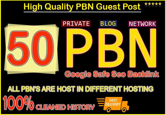 Do 50 High Metrics Manually PBN DA/PA 50-20 GOOGLE Fast Ranking