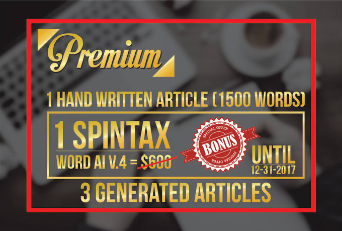 Write An Unique Hand Writing Article For Your Website Or Blog