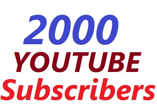 Limited Offer 2,000 YouTube Subscribers To Make Attractive Your Channel Refill Guarantee