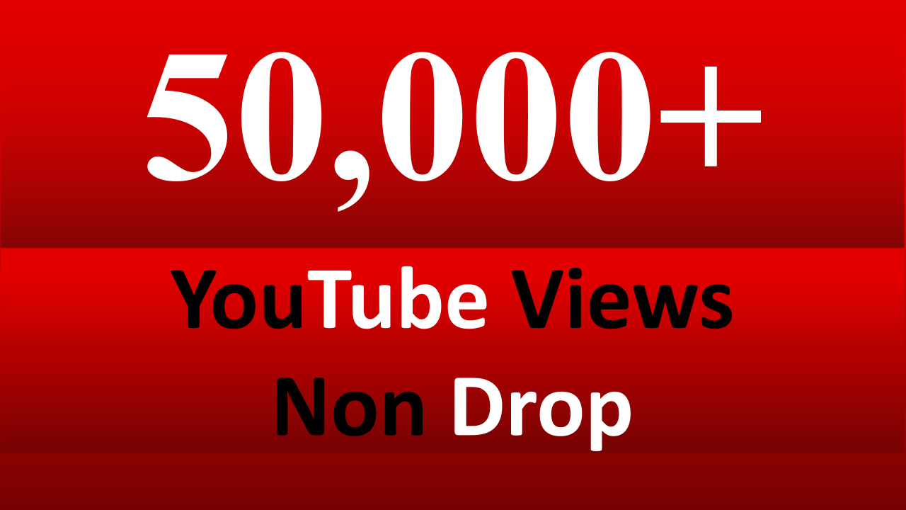 Get Instant 50,000 High Retention + Splitable Youtube Views