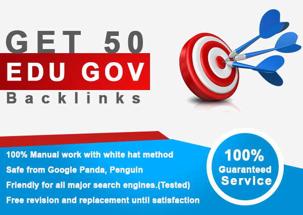 50 Edu backlinks seo service