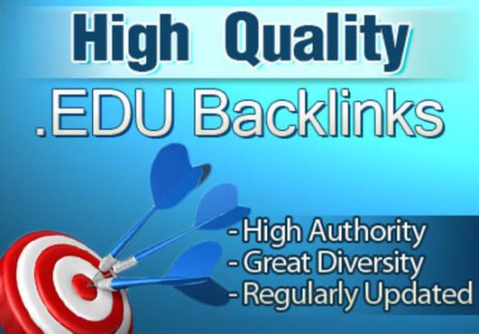 I will create 20 high PR edu and gov backlinks