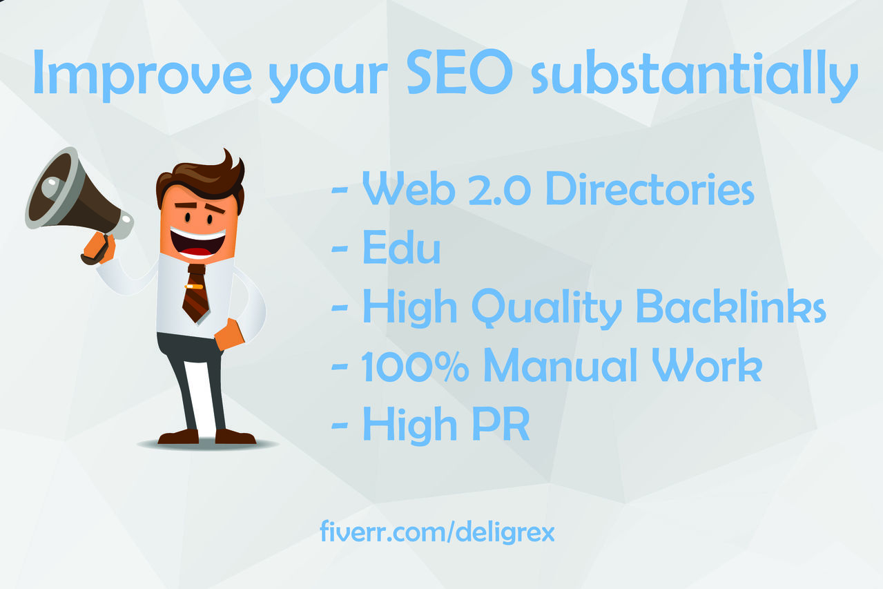 I will substantially improve your Seo with 35 web 2.0 edu High PR Backlinks