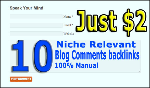 10 High Quality Niche relevant backlinks to boost SER...