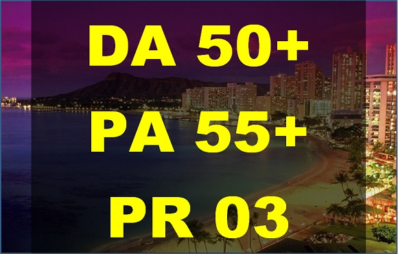 Write and guest Post on DA, PA 50+ high authority domain to give you dofollow link