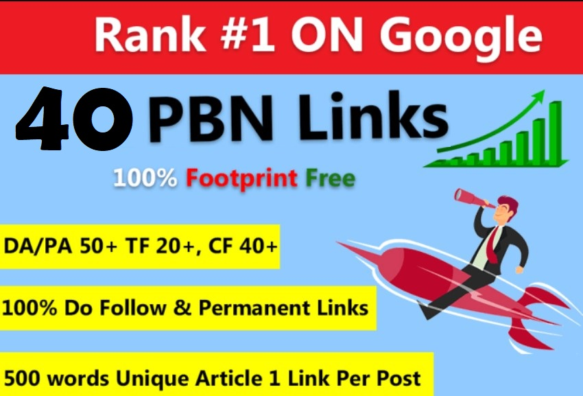 Create 40 PBN DR 70 Homepage Backlinks