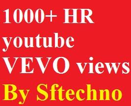 1000+ Youtube Vevo views non-drop guarantee