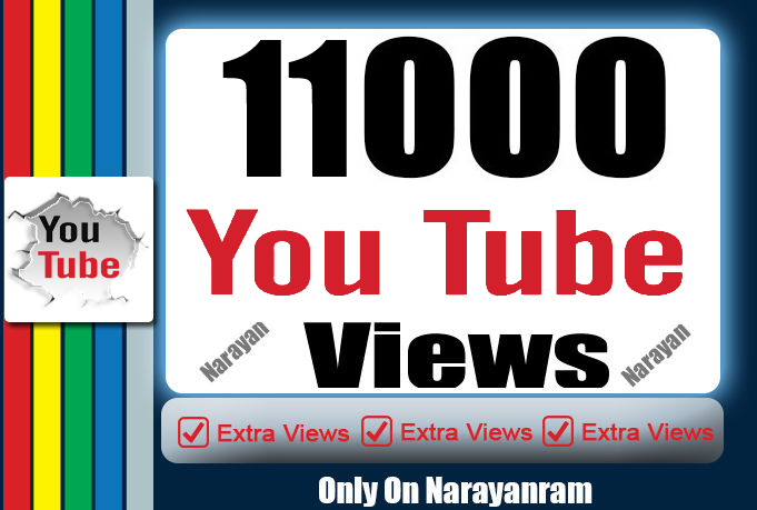 11000 To 13000 High Quality YouTube Views Instant Start 24 hrs. Delivery Time