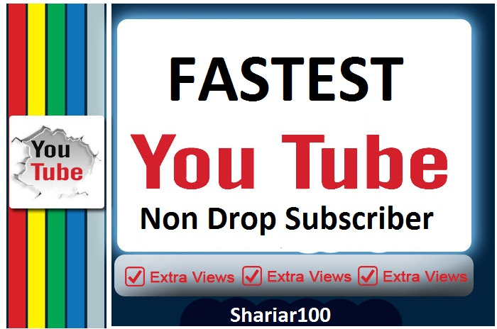 High Quality 250 You+tube Real non drop channel Subscriber fastest offer of Buyers