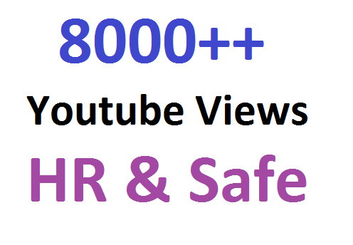 Get Promotion OF 9000 To 10000 High Quality with retention YouTube Video Promotion