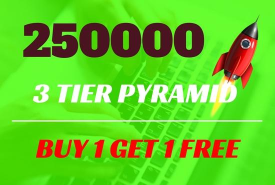 251000 Backlinks Pyramid GSA - 3 Tiers