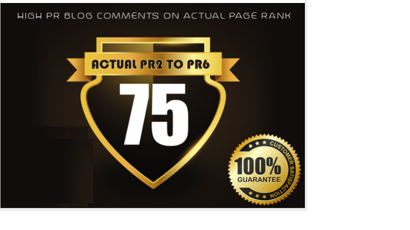 give you 75 High pr blog comments on Actual page rank