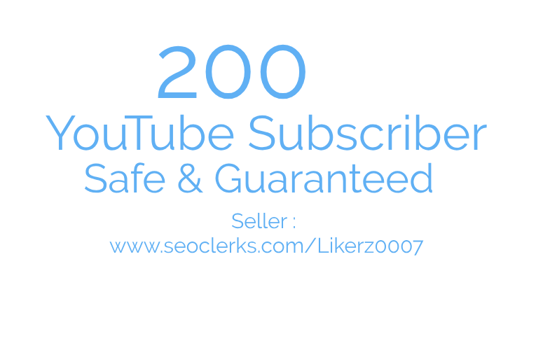 Get Promotion 200 ++ YouTube Channel with High Quality