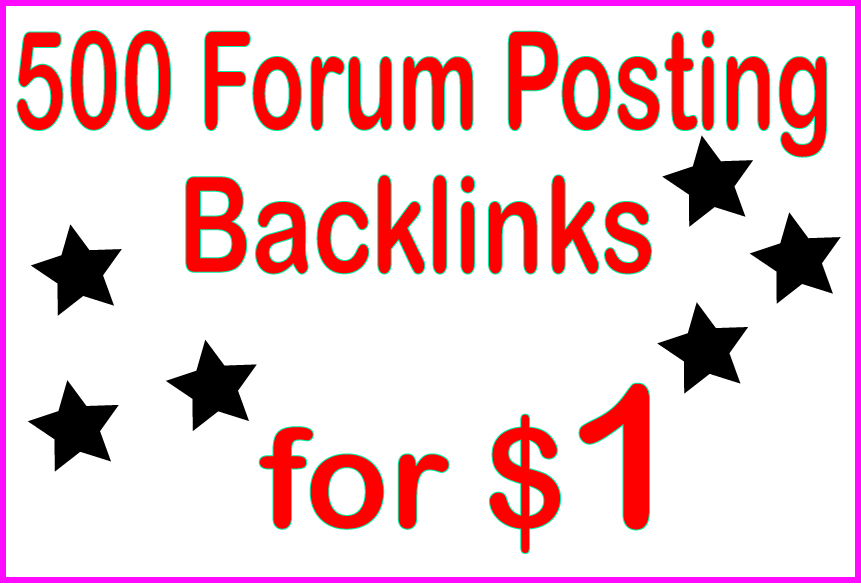 Boost Site Alexa Rank with 500 Forum Posting backlinks